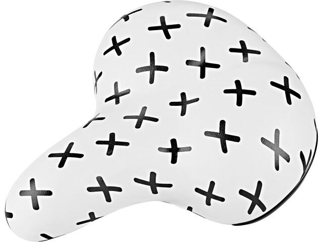 URBAN PROOF Saddle, white black crosses